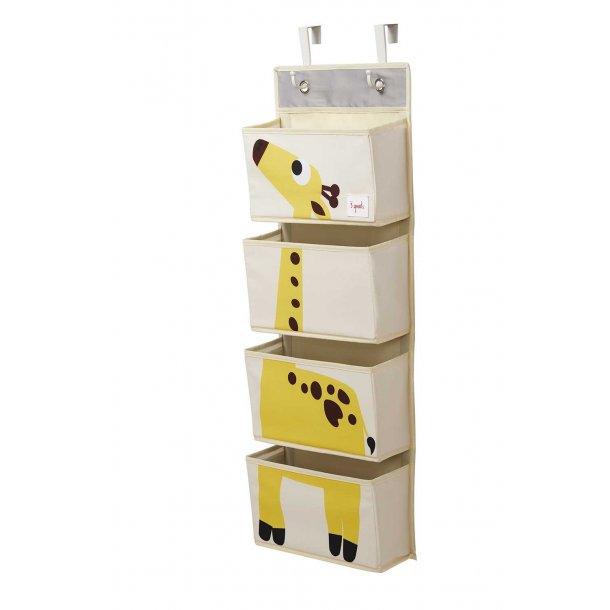 3 Sprouts - Vægophæng med lommer, Giraf