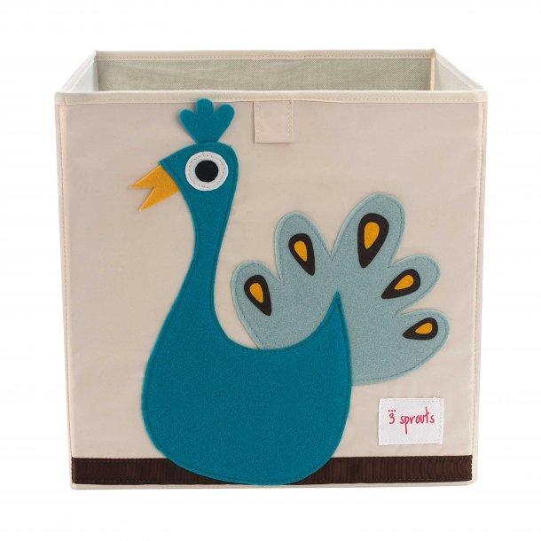 3 Sprouts - Opbevaringskasse, Peacock