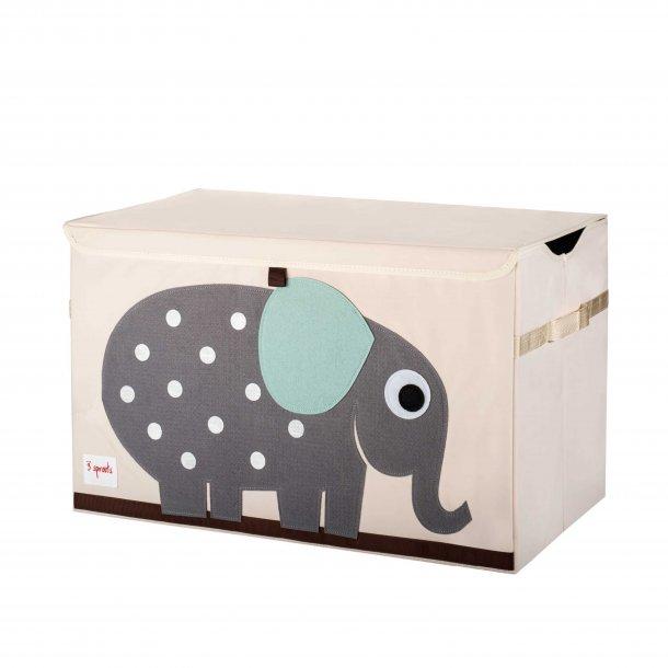 3 Sprouts- Opbevaringskasse med låg, Elephant