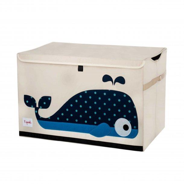 3 Sprouts - Opbevaringskasse med låg, Whale