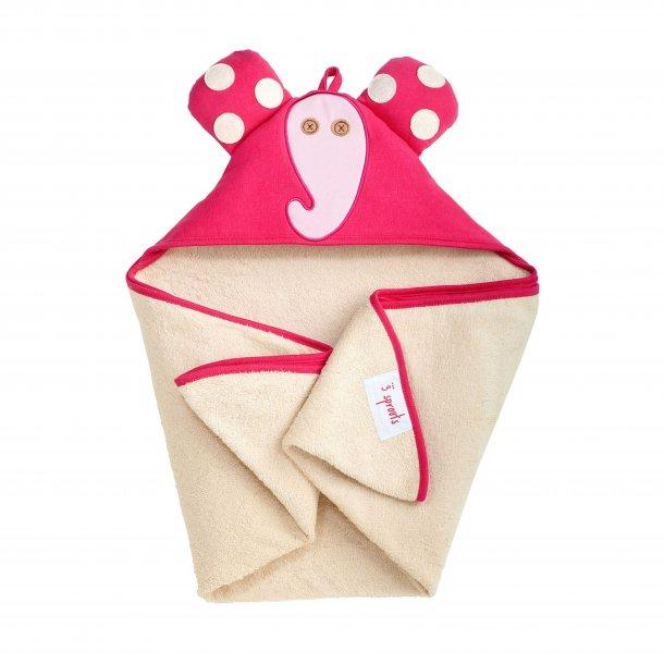 3 Sprouts - Baby Håndklæde med Hætte,Elefant