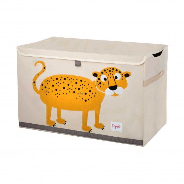 3 Sprouts - Opbevaringskasse med låg, Leopard