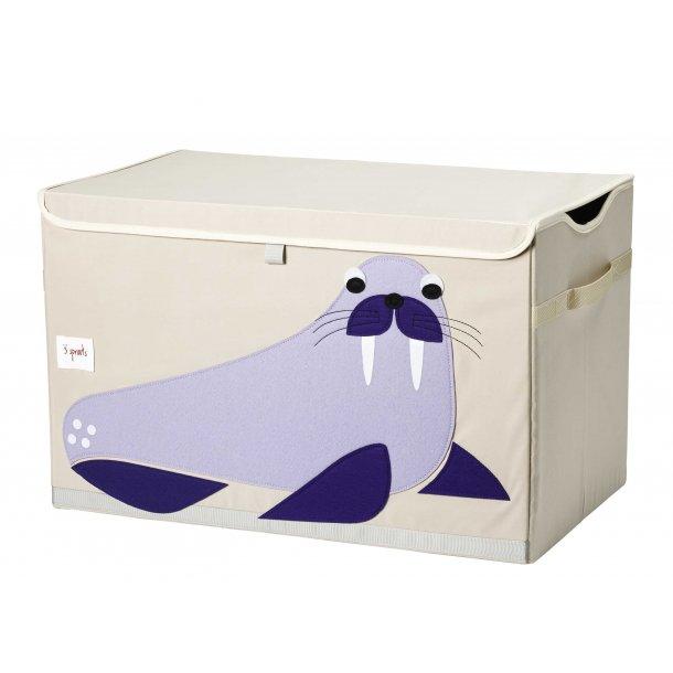 3 Sprouts - Opbevaringskasse med låg, Walrus