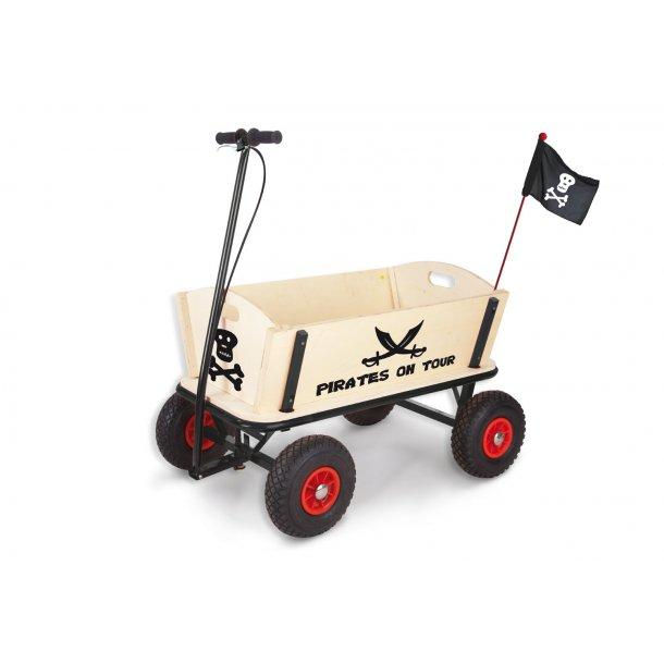 Pinolino - Trækvogn med Bremse - Pirat Jack